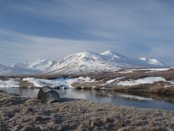 Ben Alder and Carn Dearg from the river Pattack