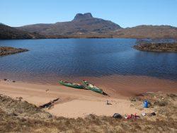 Canoeing on Lochan Gainmheich
