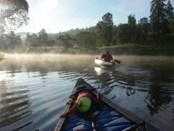 Canoeing down River Spey from Grantown-on-Spey